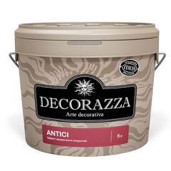 Декоративное покрытие Decorazza Antici с эффектом старинных стен серебро 5 л