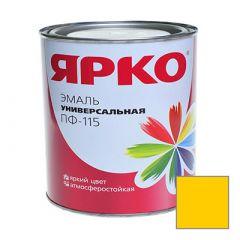 Эмаль Ярославские краски ПФ-115 ЯРКО универсальная желтая 0,9 кг