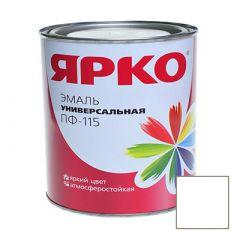 Эмаль Ярославские краски ПФ-115 ЯРКО универсальная белая матовая 0,9 кг