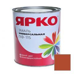 Эмаль Ярославские краски ПФ-115 ЯРКО универсальная коричневая 1,9 кг