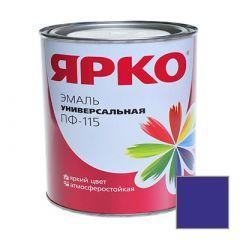 Эмаль Ярославские краски ПФ-115 ЯРКО универсальная синяя 0,9 кг