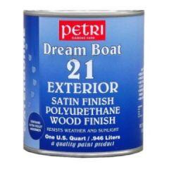 Лак полиуретановый на водной основе шелковисто-полуматовый Petri Dream Boat 21 0,95 л