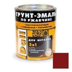 Грунт-эмаль Dali по ржавчине 3 в 1 для металла RAL 3011 Красно-коричневая 2 л