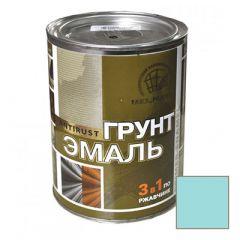 Грунт-эмаль РадугаМалер по ржавчине 3 в 1 для металла Голубой 0,9 кг