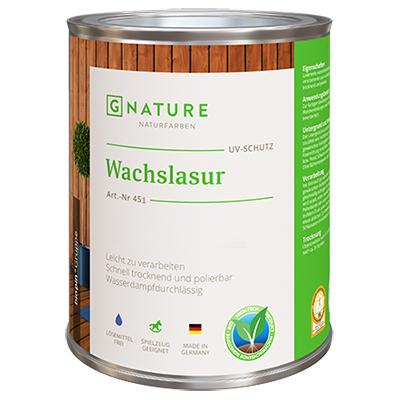 Воск-Лазурь G-NATURE 451 Wachslasur интерьерная белая 2,5 л