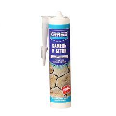 Герметик силиконовый Krass для бетона и натурального камня серый 300 мл