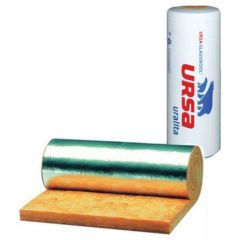 Теплоизоляция Ursa GEO М-11Ф 18000x1200x50 мм фольгированная 1 шт (21,6 м2)