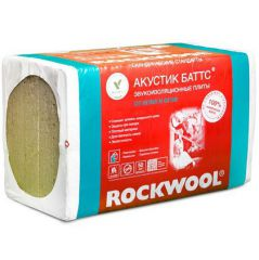 Базальтовая вата Rockwool Акустик Баттс 1000х600х100 мм 5 шт (3 м2)
