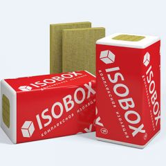 Базальтовая вата Isobox Экстралайт тепло-звукоизоляционная 1200х600х100 4 шт