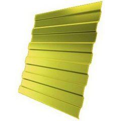 Профнастил оцинкованный С21 Желтый 3000х1050х0,4 мм