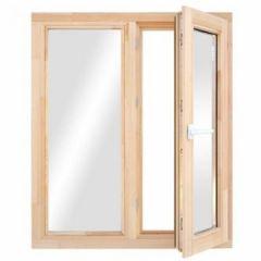 Блок оконный, деревянный, стеклопакет, 1000х800 мм