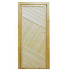 Дверь для бани, деревянная, глухая, 700х1900 мм