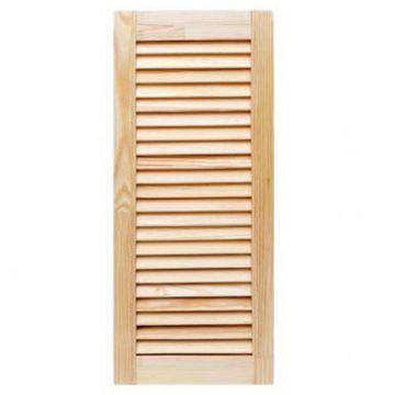 Дверь жалюзийная, деревянная, неокрашенная 1,015х0,6 м