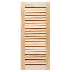 Дверь жалюзийная, деревянная, неокрашенная 0,442х0,294 м