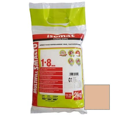 Затирка полимерцементная Isomat Multifill Smalto 1-8 21 Карамель 2 кг