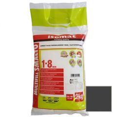 Затирка полимерцементная Isomat Multifill Smalto 1-8 02 Черная 2 кг