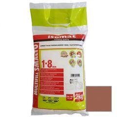 Затирка полимерцементная Isomat Multifill Smalto 1-8 07 Красно-коричневая 2 кг
