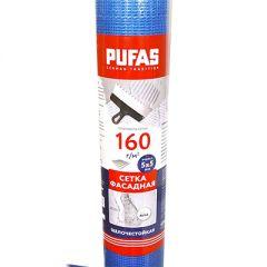 Сетка фасадная Pufas 1х50 м 5х5 мм 160 г/м2 50 м2 синяя