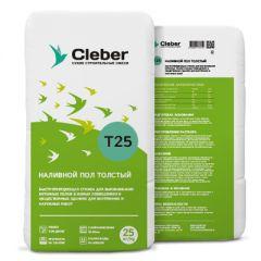 Пол наливной Cleber T25 толстый 25 кг