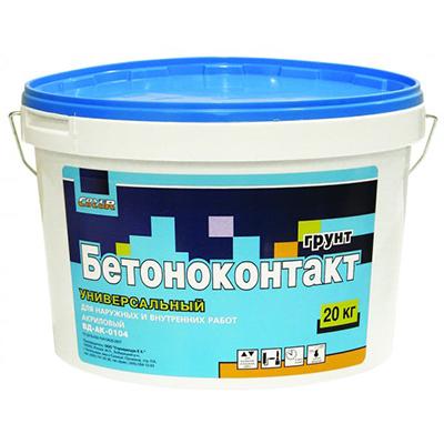Грунтовка Cover Бетоноконтакт универсальная 20 кг