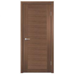 Дверь Содружество цагровая ПВХ S7 Орех велла 2,00x0,80 м