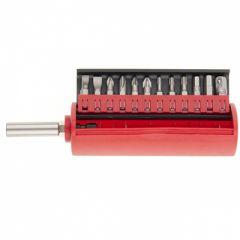 Набор бит, встроенный магнитный адаптер, 12 шт, в боксе, Matrix master, 11314