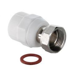 Фитинг Valtec VTp.708.0.02004 полипропиленовый с накидной гайкой 20 мм х 1/2