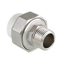 Фитинг разъемный Valtec VTp.761.0.02004 полипропиленовый на наружную резьбу 20 мм х 1/2