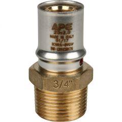 Переходник запрессовочный Stout с наружной резьбой 20 мм х 1/2 (SFP-0001-001220)