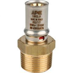 Переходник запрессовочный Stout с наружной резьбой 20 мм х 3/4 (SFP-0001-003420)