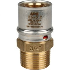 Переходник запрессовочный Stout с наружной резьбой 26 мм х 3/4 (SFP-0001-003426)
