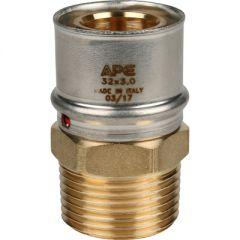 Переходник запрессовочный Stout с наружной резьбой 32 мм х 1 (SFP-0001-000132)