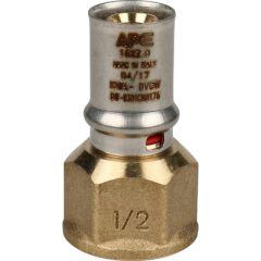 Переходник запрессовочный Stout с внутренней резьбой 16 мм х 1/2 (SFP-0002-001216)