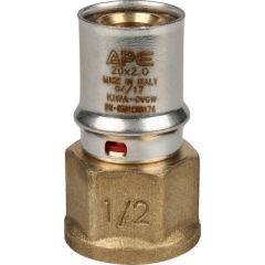 Переходник запрессовочный Stout с внутренней резьбой 20 мм х 1/2 (SFP-0002-001220)