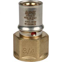 Переходник запрессовочный Stout с внутренней резьбой 20 мм х 3/4 (SFP-0002-003420)