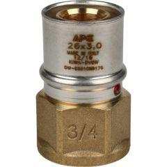 Переходник запрессовочный Stout с внутренней резьбой 26 мм х 3/4 (SFP-0002-003426)
