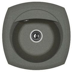 Мойка кухонная округлая Флорентина Корсика Чёрная (20.105.В0510.102)