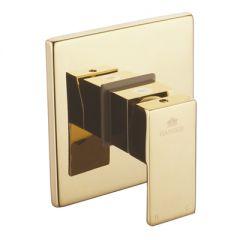 Смеситель Ganzer Serenity встроенный квадратный золото GZ 5103e