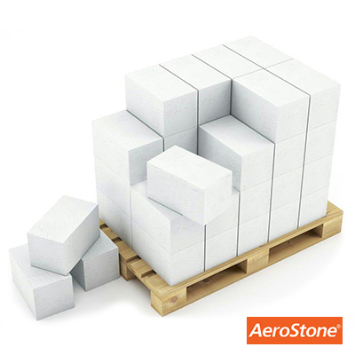 Блок из ячеистого бетона Aerostone газосиликатный D500 625х250х250 мм 1 м3