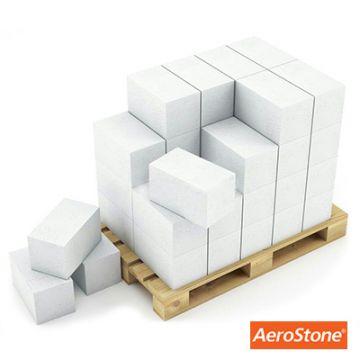 Блок из ячеистого бетона Aerostone газосиликатный D600 625х200х375 мм 1 м3
