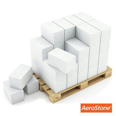Блок из ячеистого бетона Aerostone газосиликатный D600 625х250х375 мм 1 м3
