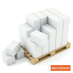 Блок из ячеистого бетона Aerostone газосиликатный D400 625х250х300 мм 1 м3
