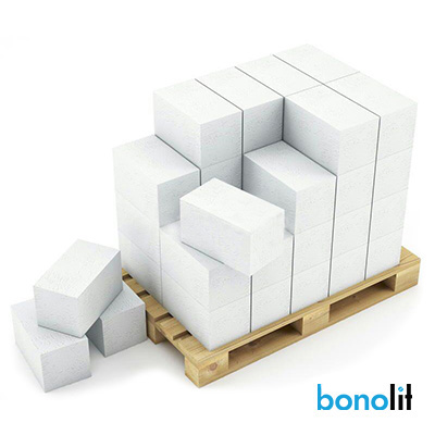 Блок из ячеистого бетона Bonolit Грас D500 газосиликатный 150х250х625 мм 1 м3