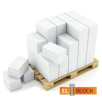 Блок из ячеистого бетона El-Block газосиликатный D500 600х250х125 мм 1 м3