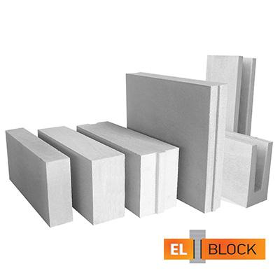 Блок из ячеистого бетона El-Block газосиликатный D600 600х200х300 мм