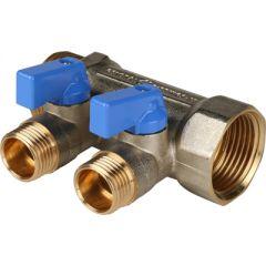 Коллектор никелированный синий Stout 1 на 1/2 дюйма 2 (SMB 6201 011202)