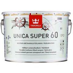 Лак Tikkurila Unica Super EP 60 полуглянцевый 9 л