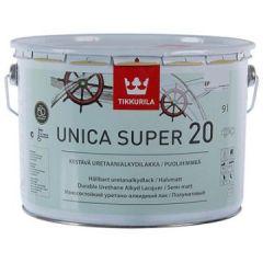 Лак Tikkurila Unica Super EP 20 полуматовый 9 л