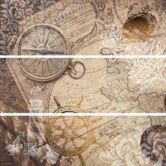 Керамическая плитка Lasselberger IL Mondo панно 60х60 (комп/3 шт) 1606-0008
