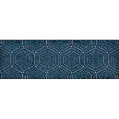 Керамическая плитка Lasselberger Парижанка декор Геометрия синий 20х60 1664-0180